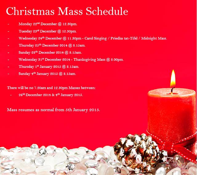 Masses - Christmas Time