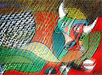 Painting - bull