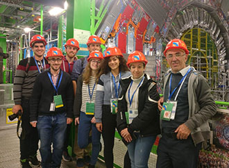 Students and Dr Louis Zammit Mangion visit CERN