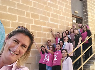 Pink October - Faculty of Education staff