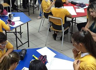 A classroom setting