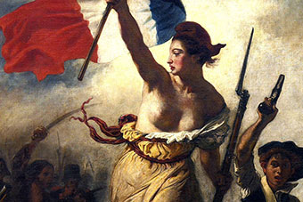 Eugène Delacroix - Romantic history painting. Commemorates the French Revolution of 1830 (July Revolution) on 28 July 1830.