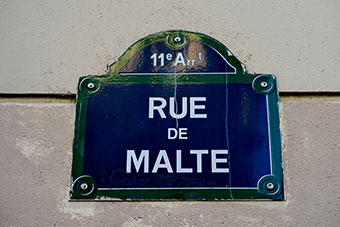 Street sign in France