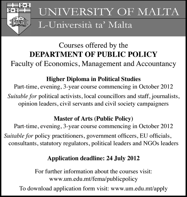 Courses by the Department of Public Policy
