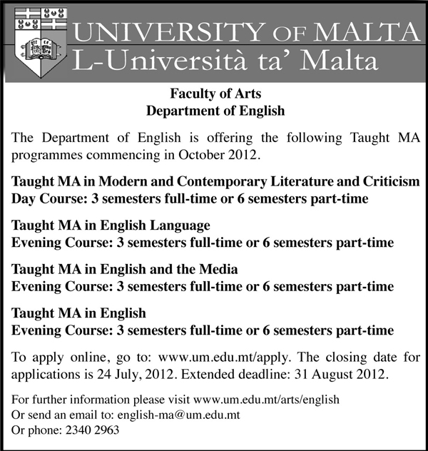 Courses by the Department of English
