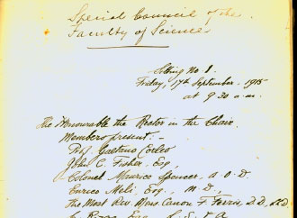 Faculty of Science Board Meeting Minutes 1915