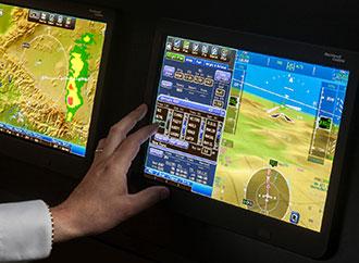 Flight deck touchscreen