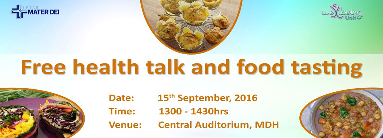 Eat healthy think healthy newspoint university of malta nutrition family and consumer studies nfsc office at the faculty of education university of malta will deliver a presentation on healthy eating ccuart Image collections