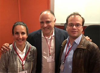 Group photo - Dr Claire Shoemake, Prof. Stefano Alcaro and Prof. David  Magri.