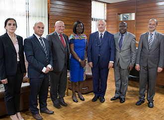 Distinguished visitors from Ghana