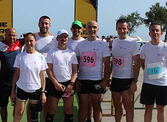 UM staff road race participants group photo