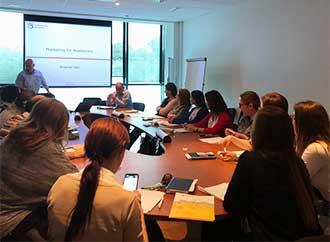 Training session on digital marketing