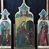 Painting - Antonio de Saliba's triptych of the Madonna Del Soccorso