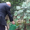 Rector Alfred Vella at Argotti Botanic Gardens