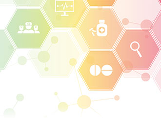 graphics depicting health-related icons