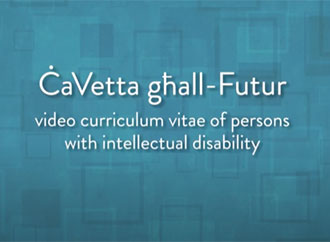 Cavetta ghall-futur video curriculum vitae for persons with intellectual disability