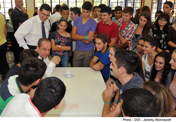 The Prime Minister Visits the Junior College