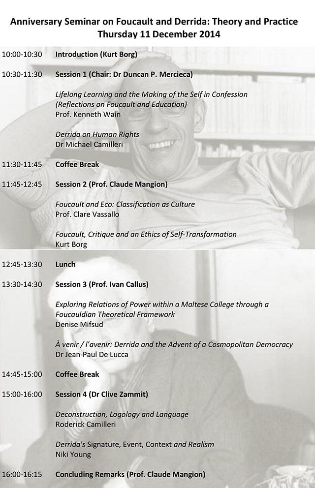 Seminar: Foucault and Derrida
