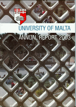 Annual Report Cover 2003