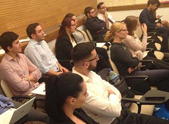 Students at Economics seminar