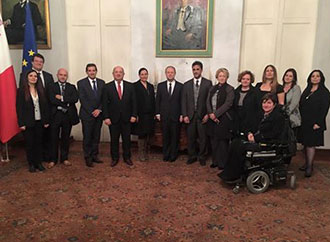 The Faculty for Social Wellbeing paid a courtesy visit to Prime Minister Dr Joseph Muscat
