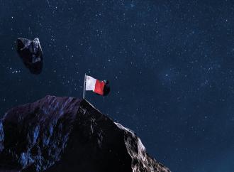 Maltese flag in space