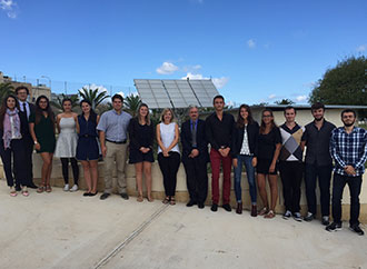 Group photo - visit to the Solar Lab