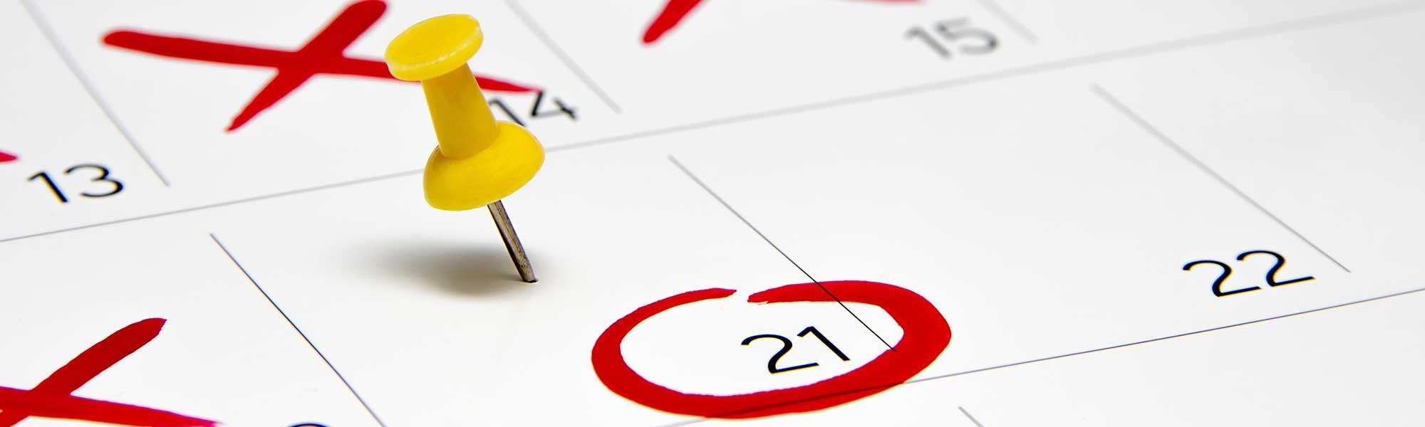 Important dates - L-Università ta' Malta