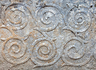 pattern ornament in neolithic Tarxien temples. Malta. Built approximately in 3000 B.C.