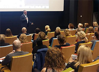Prof. Carmel Borg addressing audience
