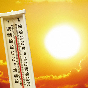 A thermometer and the sun