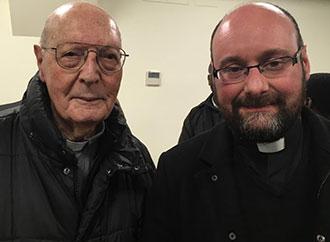 Cardinal Prospero Grech and Jonathan Farrugia