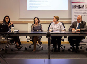 Nurses' Day launch - Dr Maria Cassar, Prof. Simone Borg, Prof. Maria Attard, Mr Mario Tabone, Dr Karen Vincenti