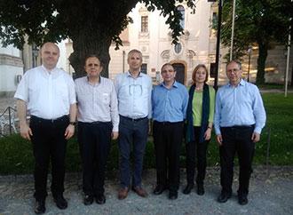 Rev. Dr Carl-Mario Sultana with members of the Équipe Européenne de Catéchèse