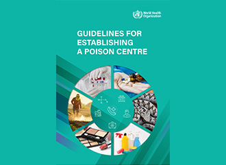 Front cover of the publication by WHO 'Guidelines for Establishing a Poison Centre'