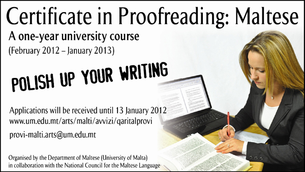 Course in Proof Reading Maltese