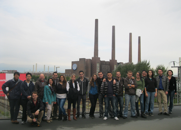 UoM students at Volkswagen