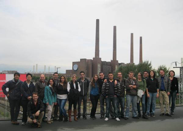 UoM students at Volkswagen