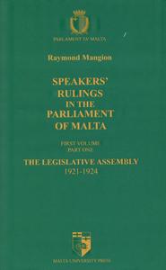 Speakers' Rulings in the Parliament of Malta