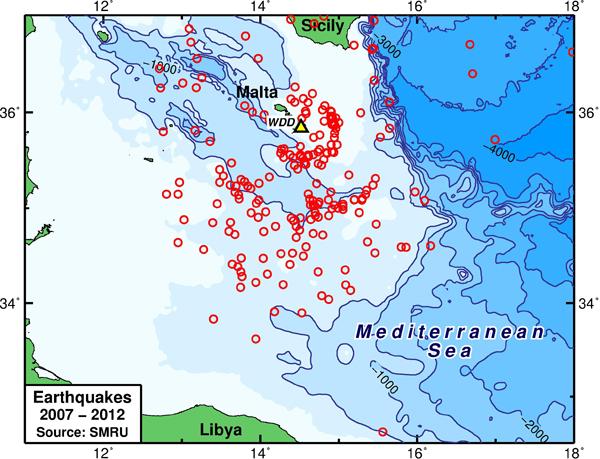Malta Seismicity