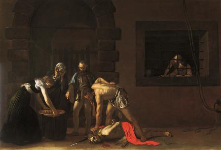 Caravaggio's beheading of St.John