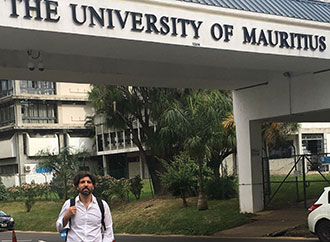 Stefano Moncada at the University of Mauritius