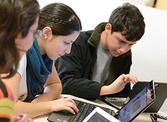 Students at PCs