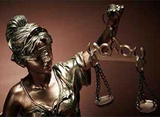 Statue representing justice