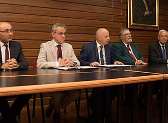 Dr Philip Ciantar,Dr Noel Camilleri, Rector Prof. Alfred Vella, Mr Joseph Azzopardi, Pro Rector Prof. Joseph Cacciattolo