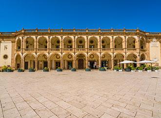 Piazza della Repubblica in Mazara del Vallo, town in the province of Trapani, Sicily, southern Italy