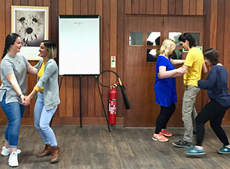 Students during the Process Drama workshop