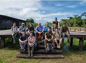Group taking part in theFrench Guiana expedition