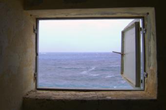 Window overlooking the sea