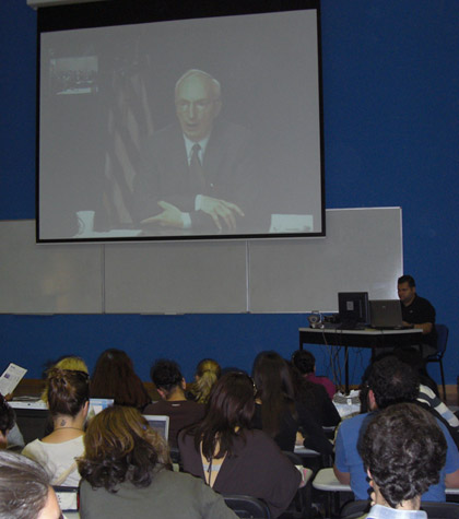 Digital video conference with Prof. Robert Lieber